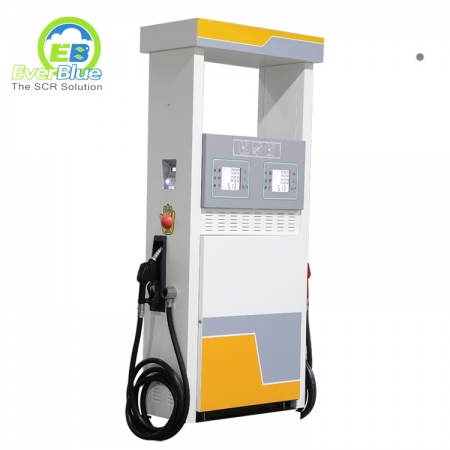 Hot sale double nozzles four displays fuel dispenser for gasoline station