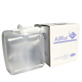 Package of Soft plastic bag with box AdBlue® DEF AUS 32 10L
