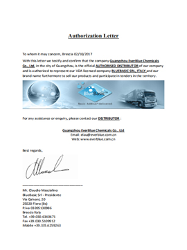Authorization Letter from BlueBasic